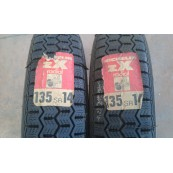 Pair Michelin zx 135 sr 14