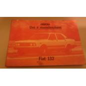 Fiat 132 libretto uso e manutenzione