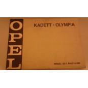 Opel Kadett Olympia manuale uso e manutenzione